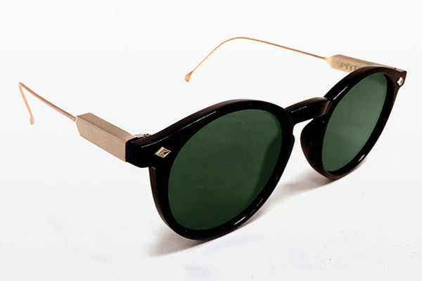 Spitfire - Flex Black & Gold Sunglasses, Black Lenses