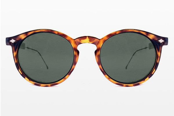 Spitfire Flex Tortoise Shell & Gold Sunglasses, Black Lenses