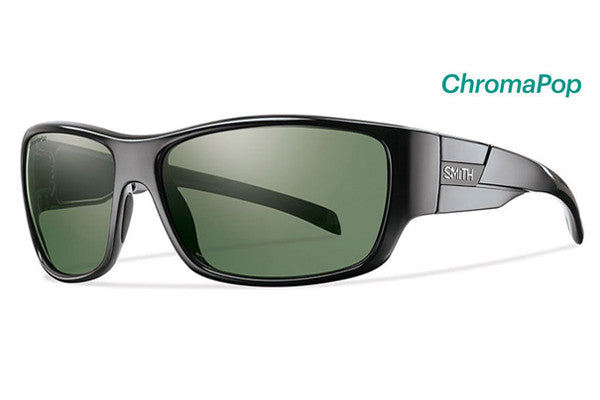 Smith - Frontman Black Sunglasses, Chromapop Polarized Gray Green Lenses