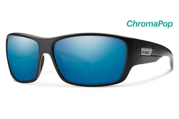 Smith - Frontman Matte Black Sunglasses, Chromapop Polarized Blue Mirror Lenses