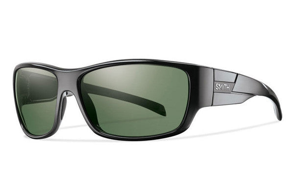 Smith Frontman Black Sunglasses, Polarized Gray Green Lenses