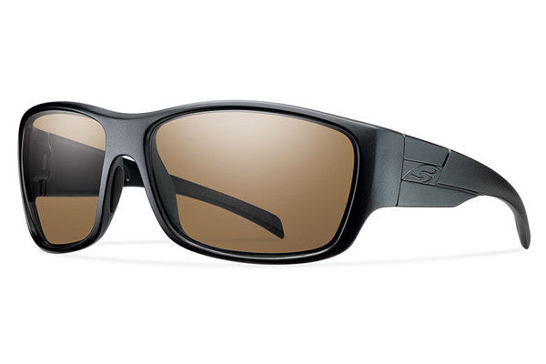 Smith - Frontman Elite Black Tactical Sunglasses, Polarzied Brown Lenses