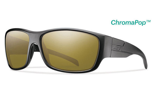 Smith - Frontman Elite Black Tactical Sunglasses, Chromapop Polar Bronze Mirror Lenses