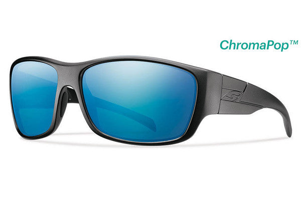 Smith - Frontman Elite Black Tactical Sunglasses, Chromapop Polar Blue Mirror Lenses