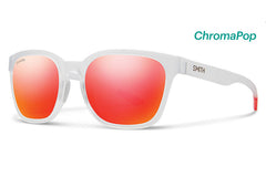 Smith - Founder Matte Crystal Red Sunglasses, ChromaPop Sun Red Mirror Lenses
