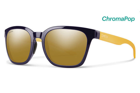 Smith - Founder Midnight Matte Honey Sunglasses, ChromaPop Polarized Bronze Mirror Lenses