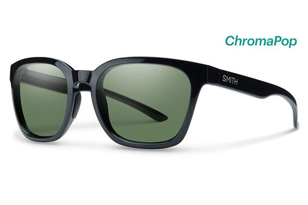 Smith - Founder Black Sunglasses, ChromaPop Polarized Gray Green Lenses