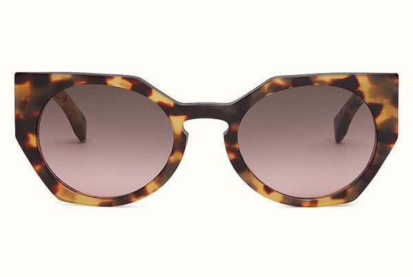 43fecc9cd5a4 Fendi - Facets 0151 S Havana Yellow Cat-Eye Sunglasses – New York Glass