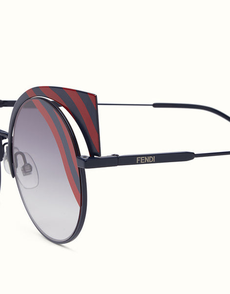 Fendi -  Hypnoshine Fashion Show 0215/S Dark Blue Metal Sunglasses