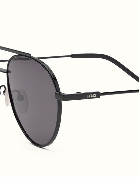 Fendi - Fendi 0222/S Air Black Metal Sunglasses