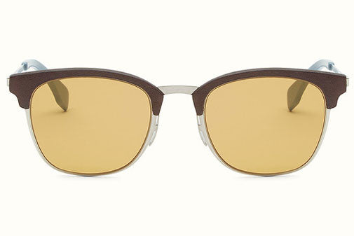 Fendi - QBIC 0228/S Brown And Cerulean Blue Sunglasses