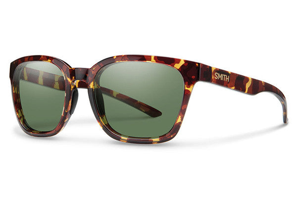 Smith - Founder Tortoise Sunglasses, Polarized Gray Green Lenses