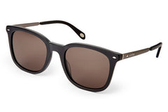 Fossil - Bardwell Rectangle Black Sunglasses