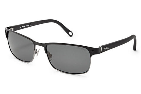 Fossil - Neuta Polarized Wrap Black Sunglasses
