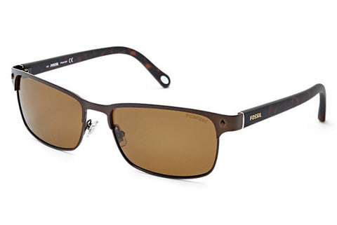Fossil - Neuta Polarized Wrap Brown Sunglasses