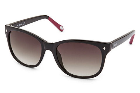 Fossil - Neely Cat Eye Black and Pink Sunglasses