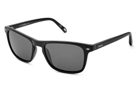 Fossil - Merritt Rectangular Black Sunglasses