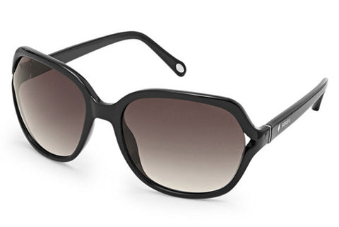 Fossil - Jesse Rectangular Black Sunglasses