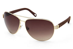Fossil - Edgefield Aviator Gold Sunglasses