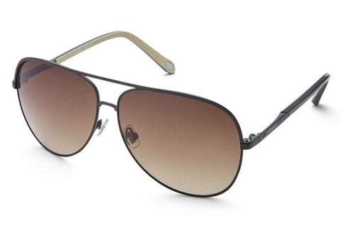 Fossil - Turnbridge Aviator Black Sunglasses