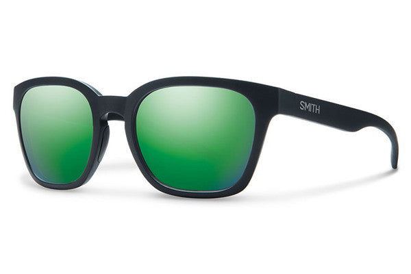 Smith - Founder Slim Matte Black Sunglasses, Green Sol-X Mirror Lenses