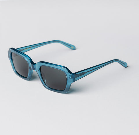 Han Kjobenhavn - Code 50mm Transparent Blue Sunglasses / Black Lenses