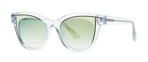 Thierry Lasry - Frivolity Clear Sunglasses / Green Lenses