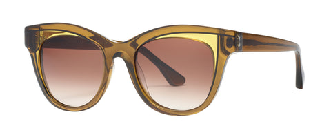 Thierry Lasry - Frivolity Militant Green Yellow Sunglasses / Brown Gradient Lenses