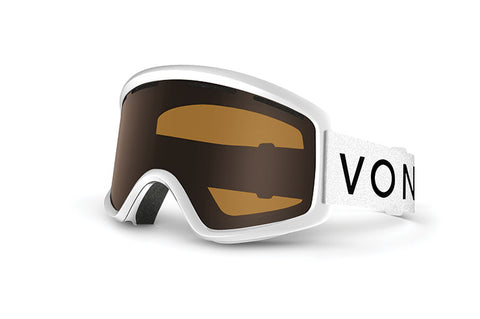 VonZipper - Beefy White Snow Goggles / Bronze Lenses