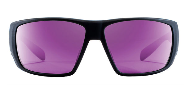 Native - Sightcaster Matte Black Sunglasses / Violet Reflex Lenses