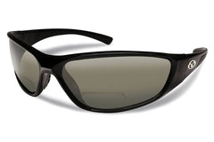 Flying Fisherman - Falcon Bifocal Reader 7302BIF Black Sunglasses, Smoke Lenses