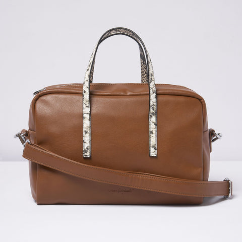 Urban Originals - Fame Rust Snake Handbag