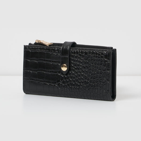 Urban Originals - Fire Up Black Croc Card Wallet