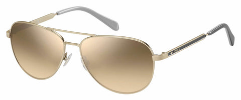 Fossil - Fos 3065 S Matte Gold Sunglasses / Brown Mirror Gradient Lenses