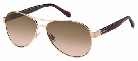 Fossil - Fos 3079 S Red Gold Sunglasses / Brown Pink Gradient Lenses