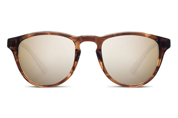 Shwood - Francis Acetate Bourbon / Gold Mirror Sunglasses