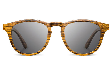 Shwood - Francis Zebrawood / Grey Polarized Sunglasses