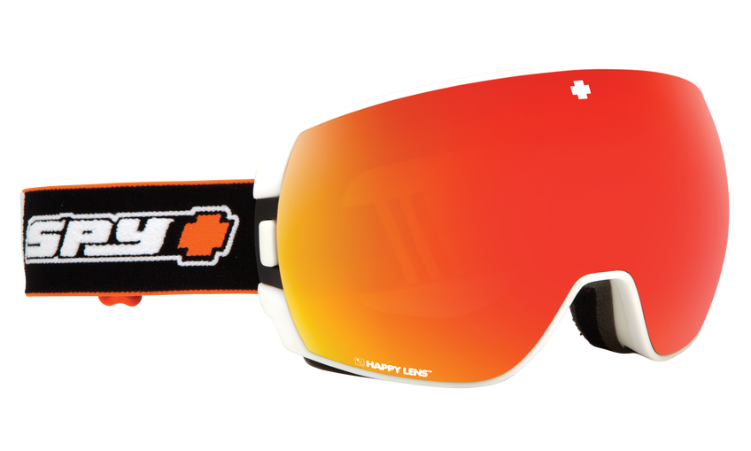 9061c1b7b03 Spy - Legacy Old School White Snow Goggles   Happy Gray Green Red Spectra  Lenses