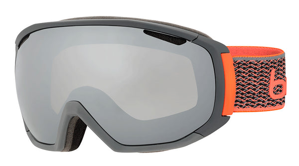 Bolle - Tsar Matte Grey Neon Orange Snow Goggles / Black Chrome Lenses