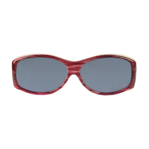 Jonathan Paul Fitovers - Glides Red Licorice Fitover Sunglasses / Polarvue Gray Lenses