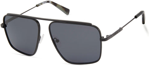 Kenneth Cole - KC7232 Matte Black Sunglasses / Smoke Polarized Lenses