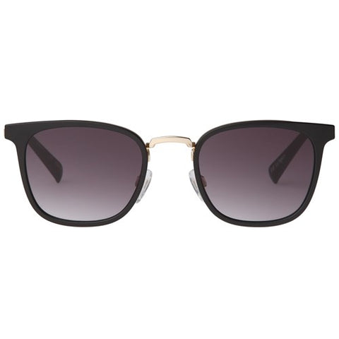 Le Specs - Racketeer Matte Black Sunglasses / Smoke Gradient Lenses