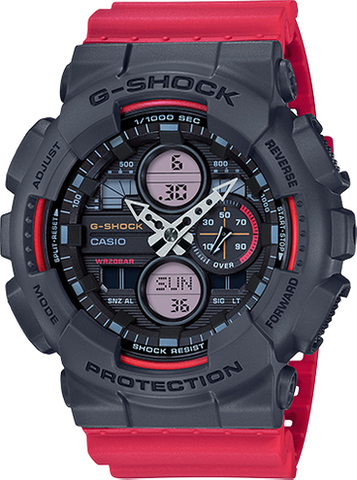 G-Shock - GA140-4A Red Black Watch