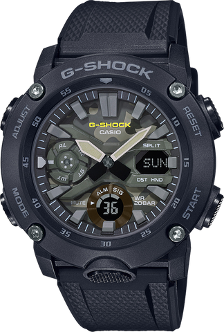 G-Shock - GA2000SU-1A Camouflage Black Watch