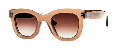 Thierry Lasry - Gambly Translucent Taupe Sunglasses / Brown Gradient Lenses