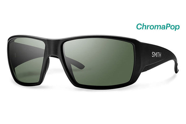 Smith - Guide's Choice Matte Black Sunglasses, ChromaPop Polarized Gray Green Lenses