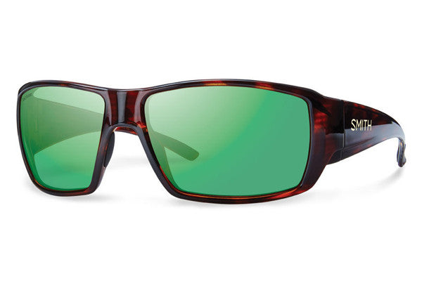 Smith - Guide's Choice Havana Sunglasses, Techlite Polarized Green Mirror Lenses