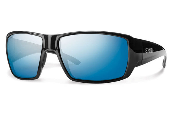 Smith - Guide's Choice Black Sunglasses, Techlite Polarized Blue Mirror Lenses