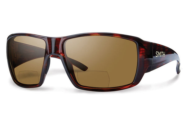 Smith - Guide's Choice Bifocal Matte Havana Sunglasses, Polarized Brown 2.50 Lenses