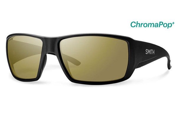 Smith - Guide's Choice Matte Black Sunglasses, ChromaPop Polarized Bronze Mirror Lenses
